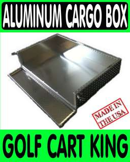 EZGO TXT Golf Cart Aluminum Cargo Bed Utility Box