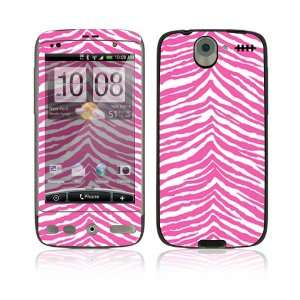 Pink Zebra Protective Skin Cover Decal Sticker for HTC