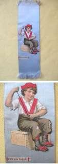 Vintage Bookmark,VICT.DIE CUT BOY,Satin Ribbon