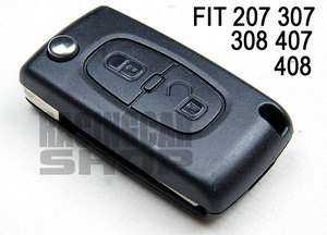 QUALITY Folding Remote Key case for PEUGEOT 407 408 207 307 107