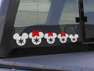 pc Star Wars Imperial Mickey Family Car Vinyl Decals