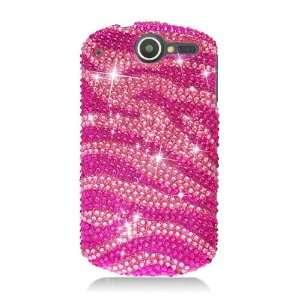FOR HUAWEI IMPULSE 4G FULL CS DIAMOND CASE HOT PINK ZEBRA
