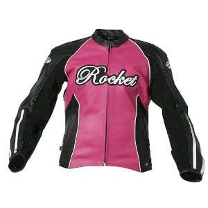 JOE ROCKET JET SET LEATHER JACKET WOMENS FUCHSIA/BLACK LG