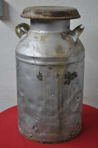 ANTIQUE 10 GALLON CREAM / MILK CAN WITH LID Item #9060