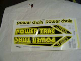 nos roadmaster pedal tractor decal set POWER TRAC |