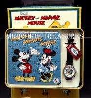 Disney Fossil Womens Mickey Minnie Ltd Ed Watch & Puzzle New