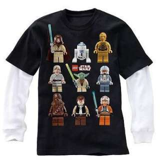 STAR WARS LEGO Mock Layer Shirt Tee 8 10 12 14 16 18 20