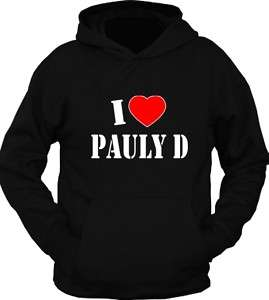 NEW* I Love Heart Pauly D JERSEY Shore Hoodie T Shirt