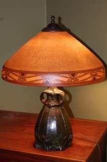 Handel Tiffany style Arts & Crafts Reverse Painted Lamp Limbert