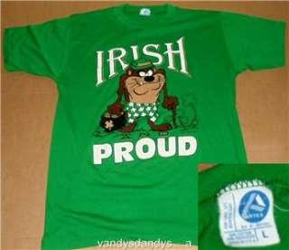 vtg TAZ irish PROUD large L shirt 80s artex ST patricks