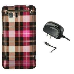 PINK SQUARE CHECKER Design Hard Cover Protector Case