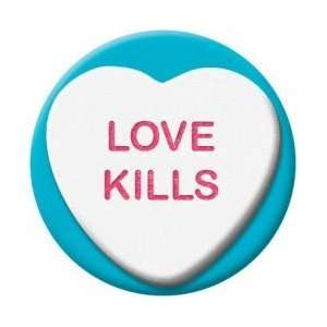 Valentine Heart Candy Love Kills Button 81706: Kitchen & Dining