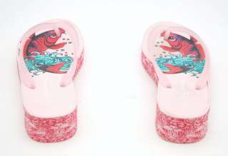 NEW ED HARDY ~KOI FISH Thong Sandal Flip Flop ~PINK 5