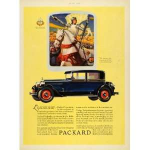 1927 Ad Packard Automobile Motor Car Horse Knight Joan Arc