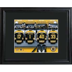 Personalized Boston Bruins Locker Room Print Sports
