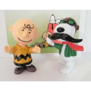 Peanuts Gang Snoopy and Charlie Brown Figure Figurine Set