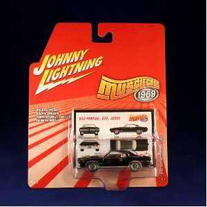 1969 PONTIAC GTO JUDGE #4 * BLACK * Johnny Lightning 2006