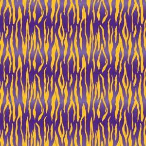 TIGER STRIPE PURPLE & YELLOW PATTERN Vinyl Decal Sheets 12