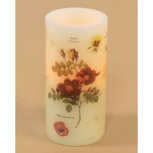 Pack of 6 Flower Pattern Battery Operated Flameless LED