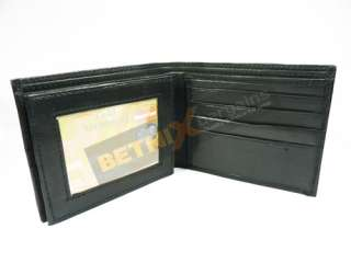 MENS LEATHER WALLET PURSE ID/CARD HOLDER COIN POCKET SM
