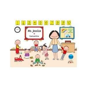 Personalized Daycare/Preschool Teacher Cartoon Picture