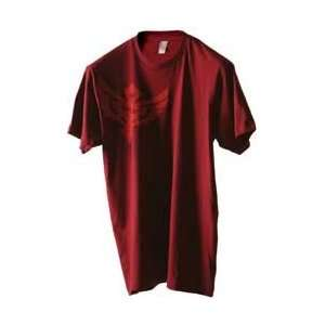 FLY CASUAL FLY TEE BADGE CRANBERRY XXL BADGE CRANBERRY XX