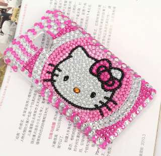 Hello Kitty Crystals Case Cover Fit LG Optimus G2X P990