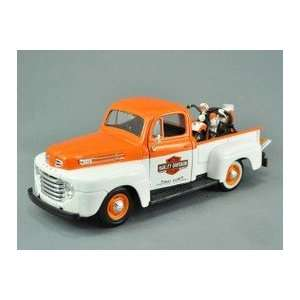 Harley Davidson 1948 1:24 Scale Ford F 1 Pick Up Die cast
