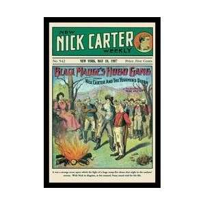 Nick Carter Black Madges Hobo Gang 12x18 Giclee on canvas