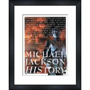 MICHAEL JACKSON History   Custom Framed Original Ad
