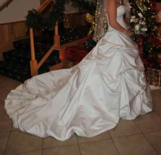 Bridal Crystal Wedding Dress Prom Gown Size 6 8 10 12 14