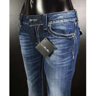 NWT MISS ME JEANS Boot Cut French Empire Border with Leather