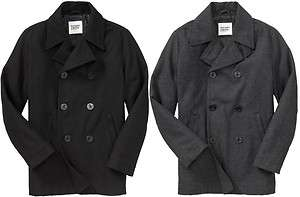 OLD NAVY MEN WOOL PeaCoat Pea Coat Jacket S,M,L,XL,2XL,3XL,MT,LT,XLT