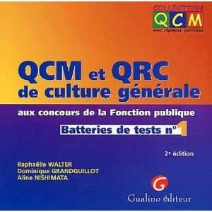 Qcm qcr culture generale 1 (French Edition) (9782842003999