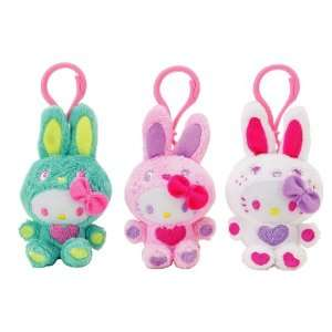 Japanese Sanrio Hello Kitty Mascot Key Ring Bunny Set of