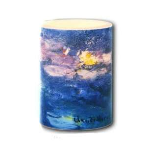 Galleria LED Lighted Candle Monet Water Lilies Small