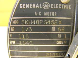 GENERAL ELECTRIC MOTOR MODEL# 5KH48PG45EX NEW