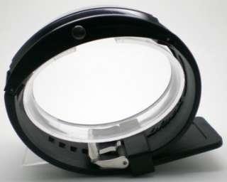 White LED Black Silicone Band Men Bracelet Wrist Watch DIY Your
