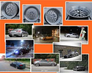 19 STAGGERED VARRSTOEN ES112 SILVER WHEEL FIT INFINITI G35 G37 NISSAN