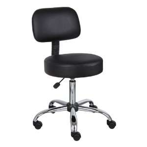 Boss Office Products Medical Stool w/ Backrest