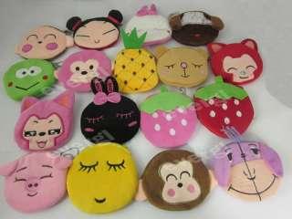 Portable Cute Cartoon Bag Change Coin Purse Case Plush Purse Handbag