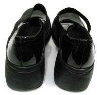 Nine West Womens Black Patent Leather Platforms Mary Janes Shoes Size