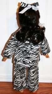 American Girl Doll Clothes ZEBRA PRINT FLANNEL Pajamas Samantha Julie