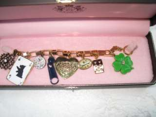 NIB JUICY COUTURE LUCK OF DRAW CASINO CHARM BRACELET