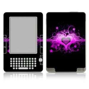 Kindle 2 Skin Decal Sticker   Glowing Love Heart
