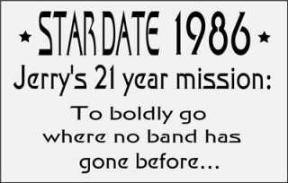 Grateful Dead T  Shirt 1986 Tour  VTG Style  Dead Trek