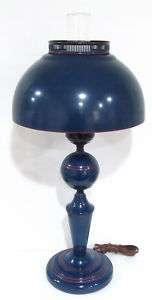 Great Vintage Art Deco Retro Modern Metal Lamp & Shade