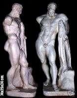 Greek sculpture Hercules with Lion Skin. 74 cm.figure.
