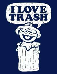 Love TRASH Oscar the Grouch Sesame Street T Shirt NWT
