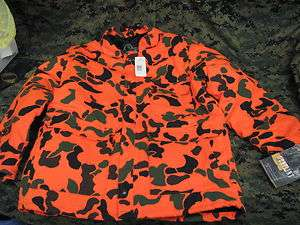 gunflint hunting coat orange camo black green hollo fil jacket size